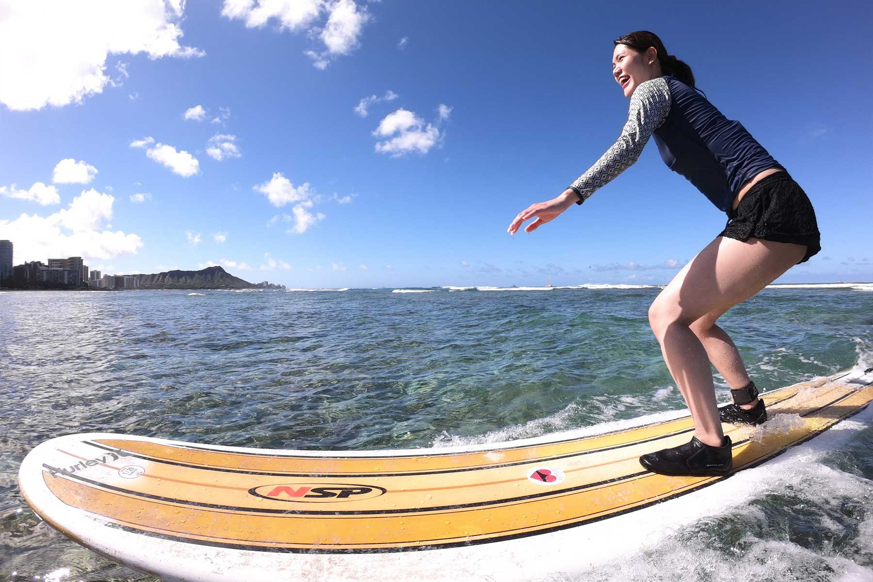 Surfer Girl Academy surf school in Honolulu, Hawaii.